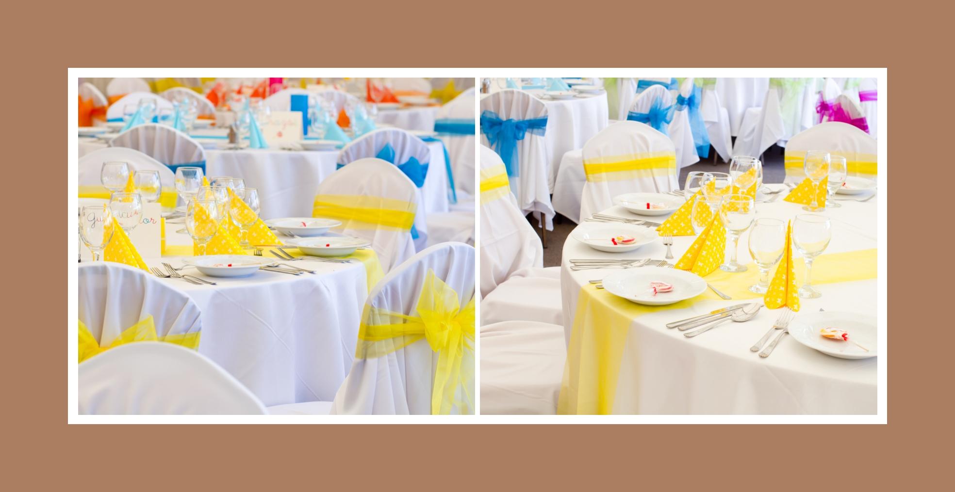 Die bunten Tische - unendlich positiv und feierlich