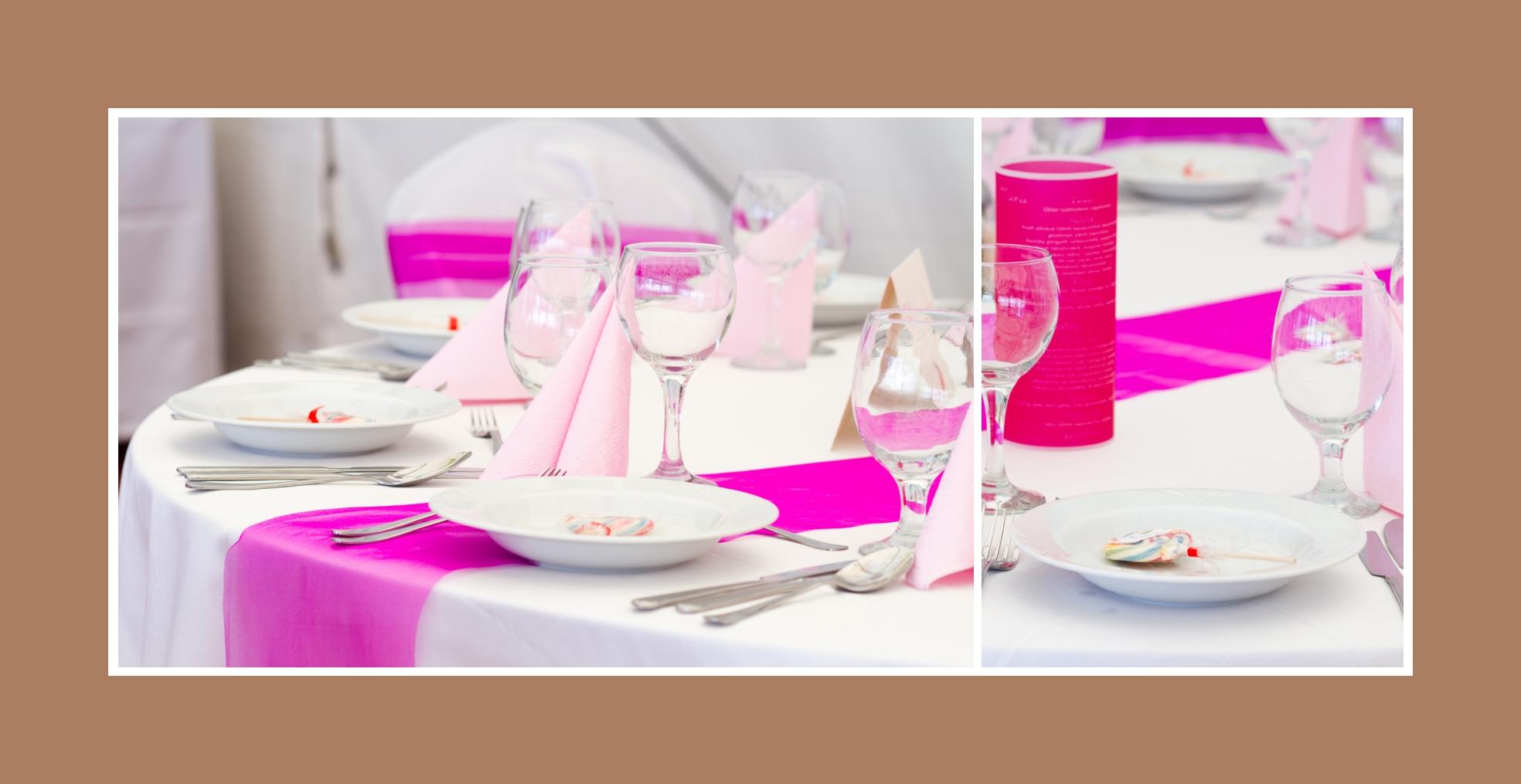 Tischdeko in Rosa und Pink - ein wahrer Mädchentraum