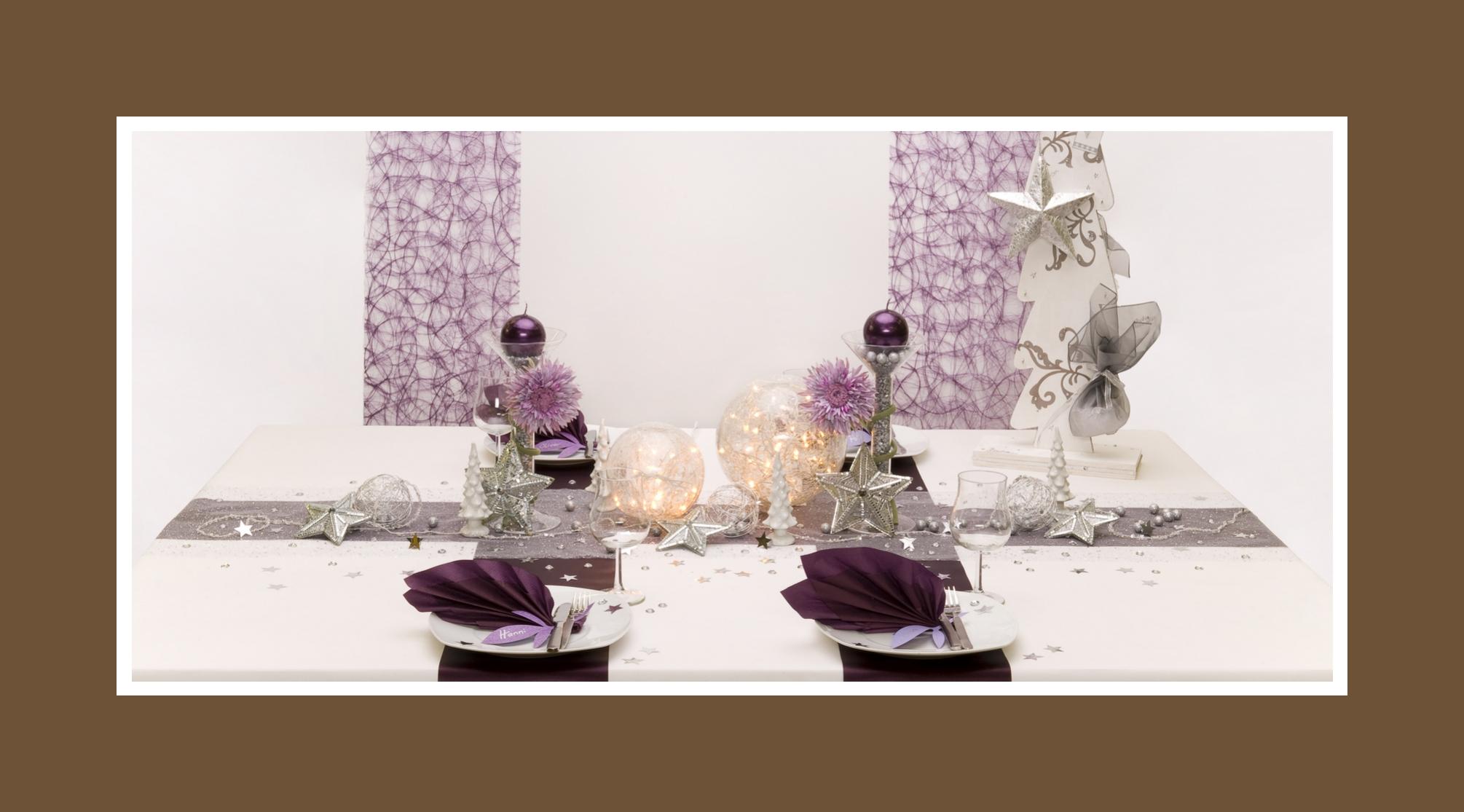 Zauberhafte winterliche Tischdeko