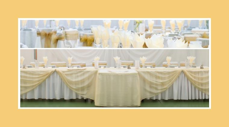 Besondere Tischdeko vom Brauttisch