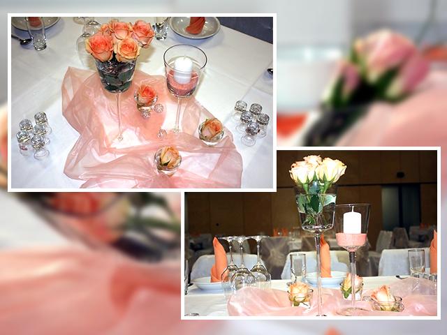 Das rosa Tischtuch als Hochzeitsdeko: Zarte Meerwellen