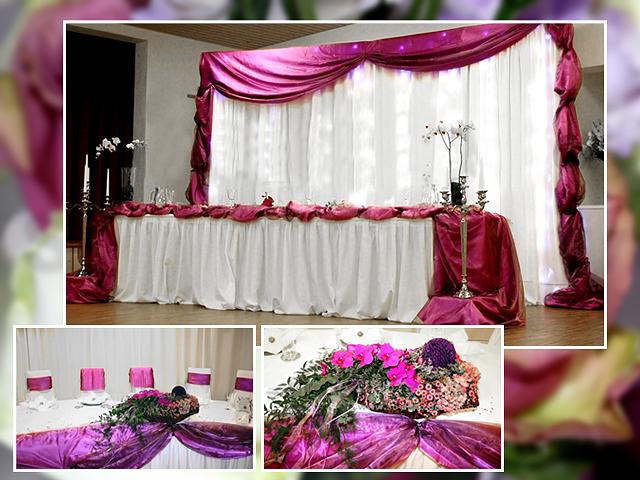 Die Hochzeitsdeko in Lila – pompös und auffällig