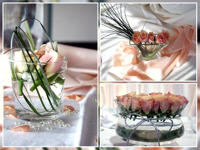 Rosa Blumendeko – winzig und großzügig