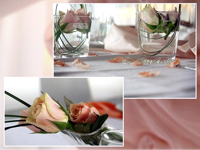 Rosa Tischdeko – Vielen Dank für die Blumen