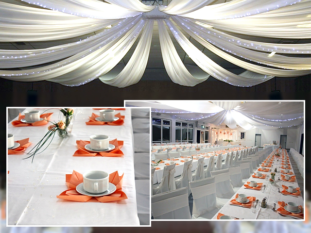 Tischdeko Hochzeit Rosa
