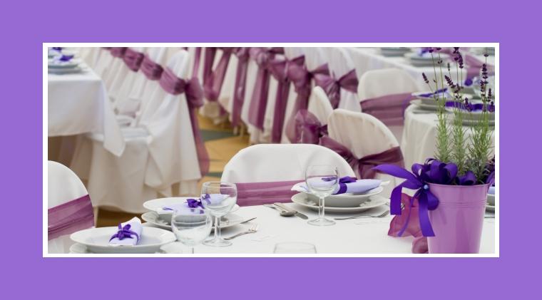 Tischdeko in Lavender