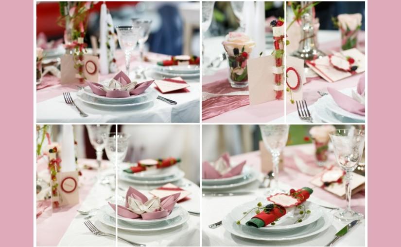 Sommerliche Beeren-Tischdeko