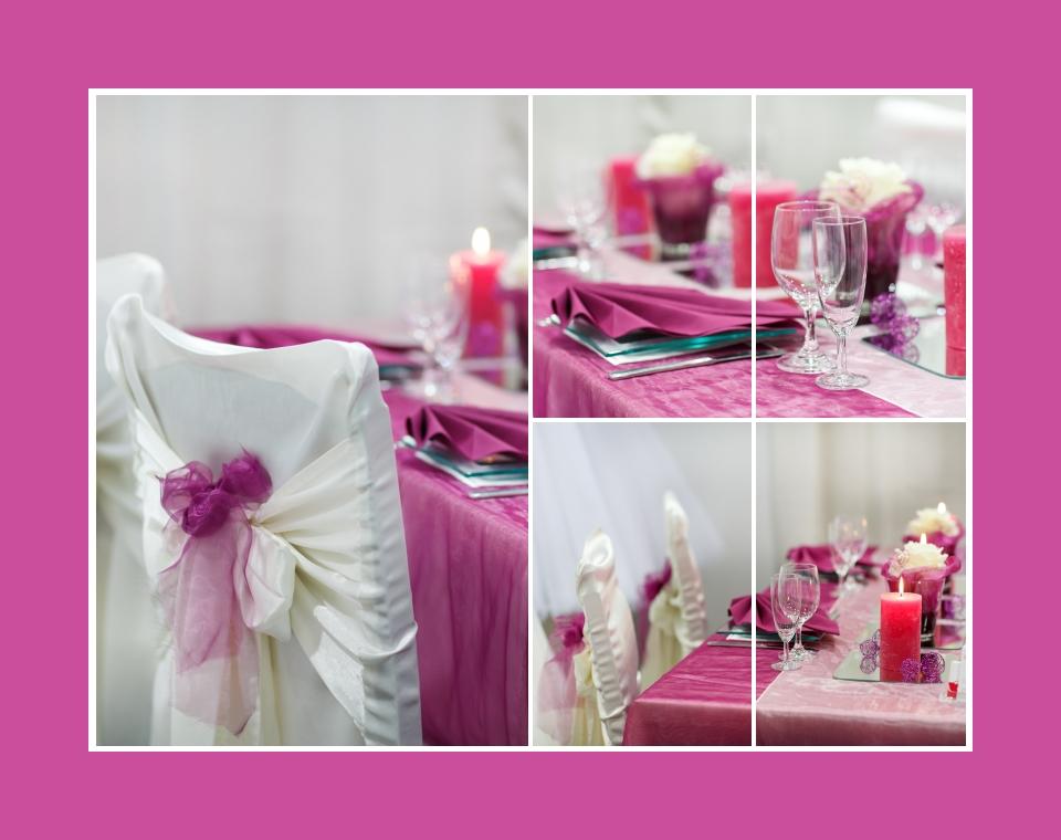 Zarte Tischdeko in Flieder und Pink