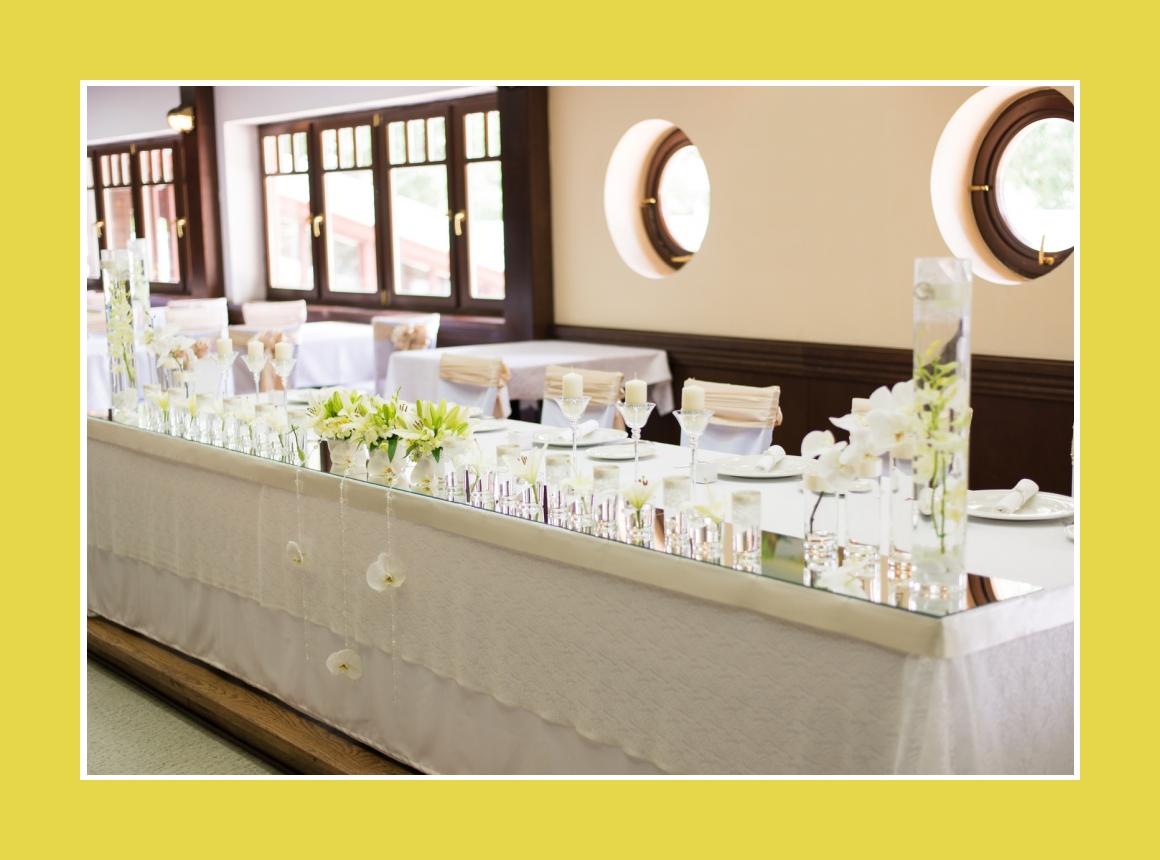 Elegante Tischdeko Brauttisch