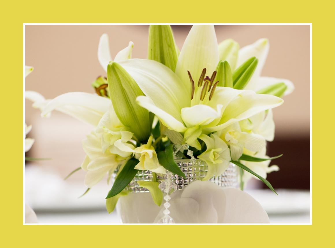 Romantische Lilien Blumendeko