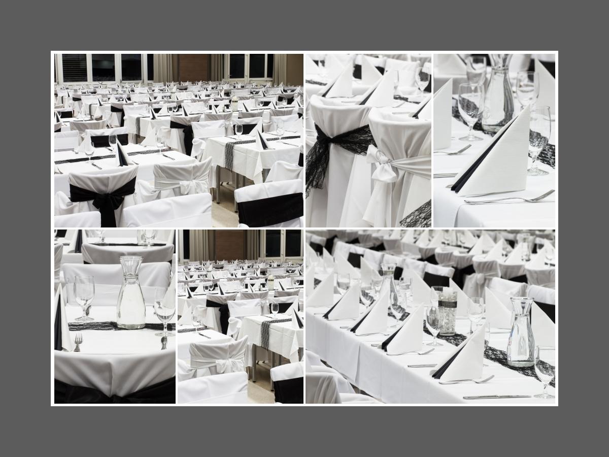 Moderne Tischdeko In Schwarz Und Weiss Tischdeko Tips