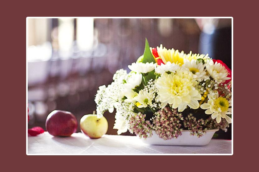 Blumengesteck Hochzeit 1