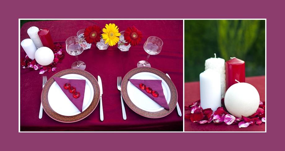 Tischdeko Konfirmation Geburtstag Hochzeit mit Servietten und Kerzendeko