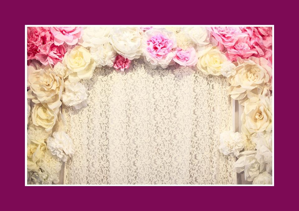 Brauttisch Hintergrund Blumendekoration