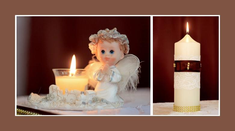 Tischdeko Mit Kerzen Blumen Kommunion Konfirmation Taufe