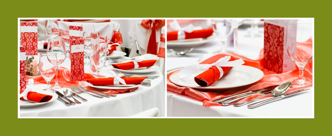 Tischdeko Servietten Rot Hochzeit Geburtstag