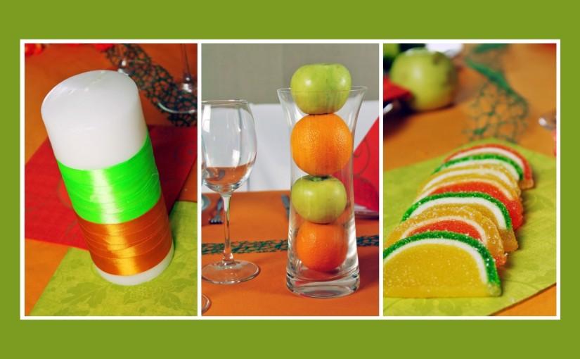 Tischdeko Idee für Geburtstag im Herbst
