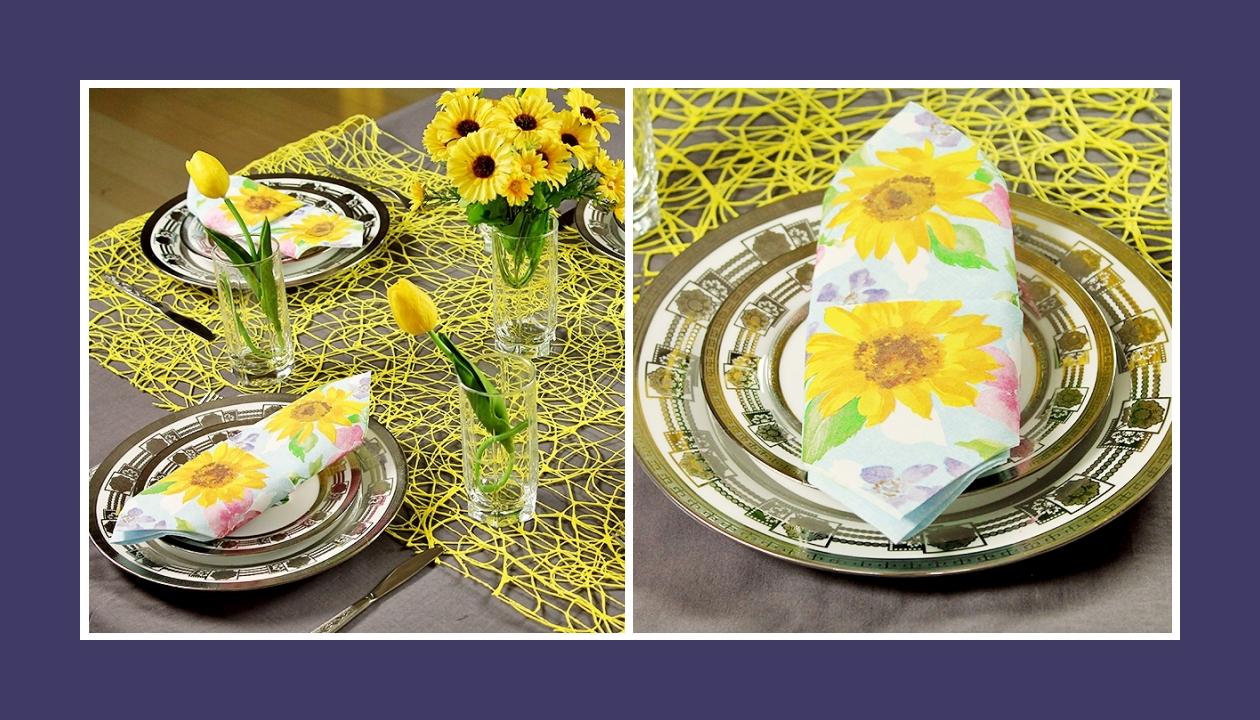 Deko Idee 60. Geburtstag Blumen Gelb