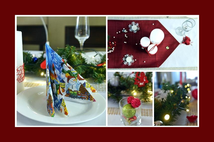 Deko Idee Weihnachten Serviettendeko