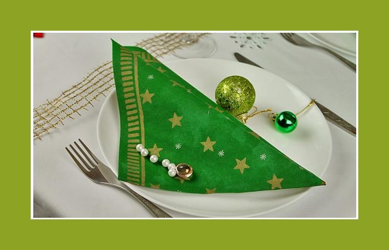 Weihnachtsdeko servietten