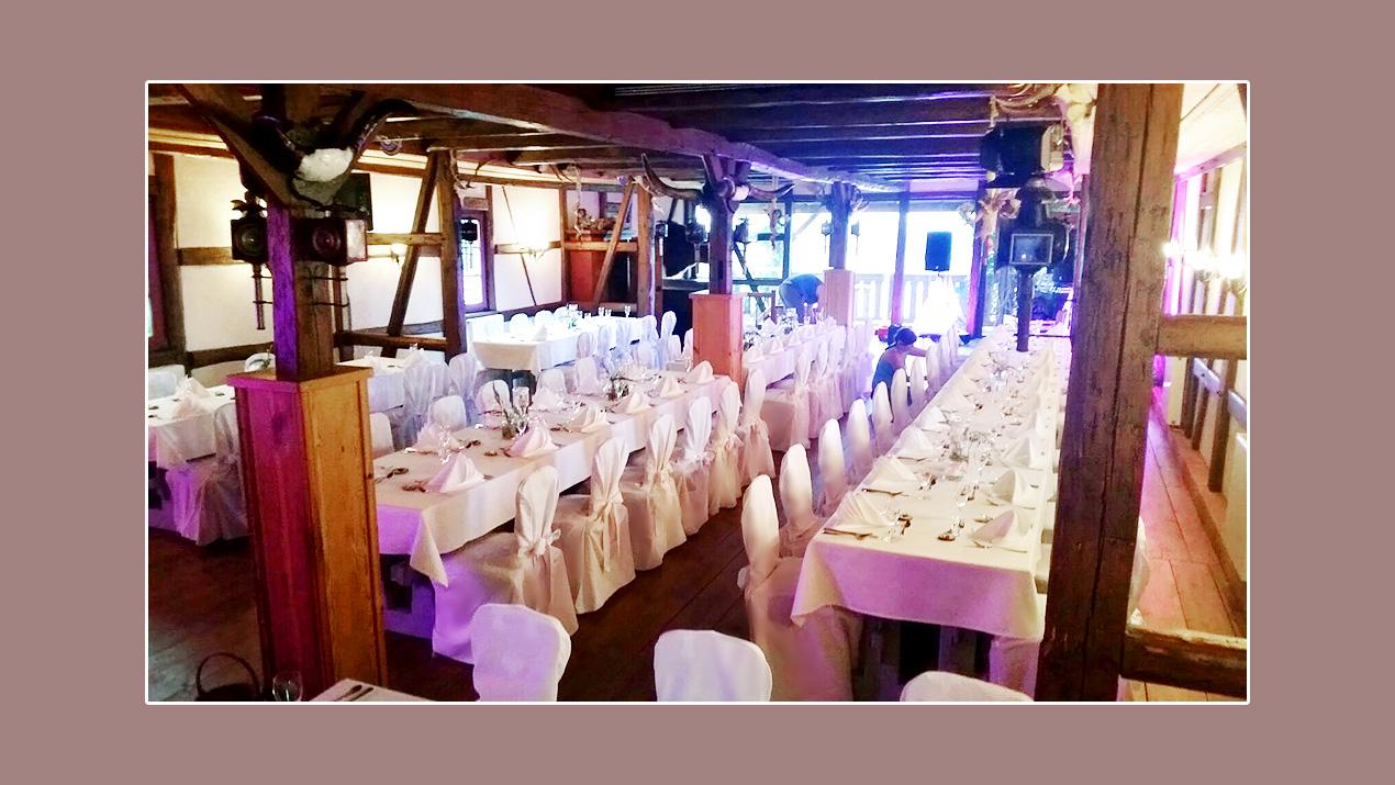 Tischdeko - Hochzeitslocation Gasthof Neu-Schenke, Umgebung Jena, Gera, Zwickau, Plauen